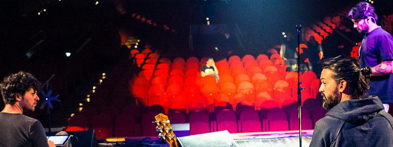 soundcheck Fabrizio Moro @ Auditorium Conciliazione
